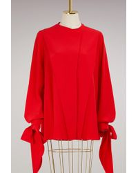 Givenchy - Long Sleeves Crêpe Blouse - Lyst
