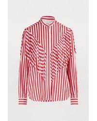 MSGM - Fringe Striped Shirt - Lyst