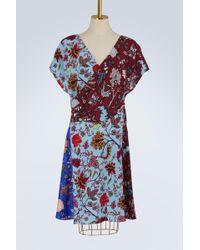 Diane von Furstenberg   Silk Draped Dress   Lyst