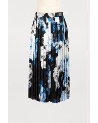 Off-White c/o Virgil Abloh - Pleated Silk Skirt - Lyst