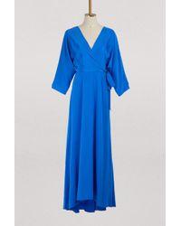 Diane von Furstenberg - Long Draped Dress - Lyst