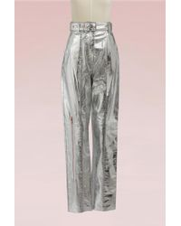 Proenza Schouler - Straight Leather Trousers - Lyst
