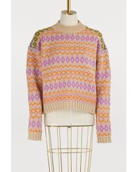 Acne Studios - Printed Wool Sweater - Lyst