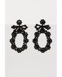 Simone Rocha - Bow Circle Crystal Drop Earrings - Lyst
