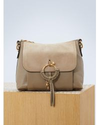 See By Chloé - Leather And Suede Joan Shoulder Bag - Lyst