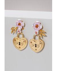 Dolce & Gabbana - Heart Lock Earrings - Lyst