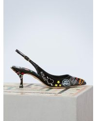 Dolce & Gabbana - Graffiti Lori Slingback Court Shoes - Lyst