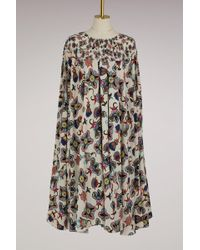 Valentino - Pop Flower Silk Midi Dress - Lyst