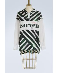 Carven - Long Logo Windbreaker - Lyst