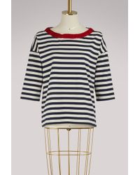 Moncler - Striped T-shirt - Lyst