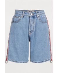 MSGM - Denim Shorts - Lyst