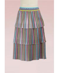 Mary Katrantzou - Baccararat Crepe Pleated Midi Skirt - Lyst
