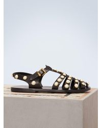Coliac - Rick Gladiator Leather Sandals - Lyst