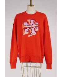 Tory Burch - Logo Cotton Sweatshirt - Lyst