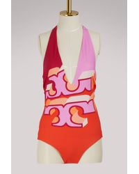 Tory Burch - Reversible Logo Swimsuit - Lyst