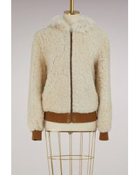 Meteo by Yves Salomon - Lamb Bomber With Hood - Lyst