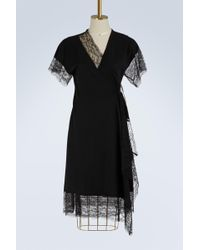 Lanvin - Lace And Wool Dress - Lyst