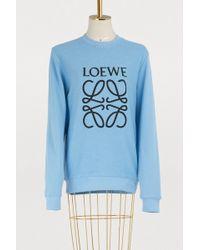Loewe - Anagram Sweatshirt - Lyst