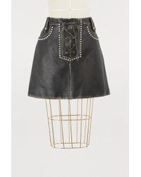 Miu Miu - Leather Skirt - Lyst