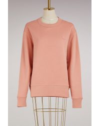 Acne Studios - Cotton Fairview Face Sweater - Lyst
