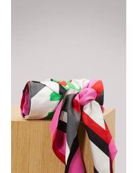 Balenciaga - Silk Printed Scarf - Lyst
