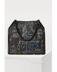 Stella McCartney - 'falabella' Small Graffiti Print Faux Leather Chain Tote - Lyst