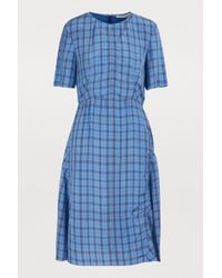 Acne Studios - Checkered Midi Dress - Lyst