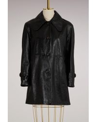 Chloé - Leather Coat - Lyst
