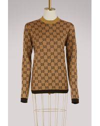 Gucci | Gg Jacquard Wool Jumper | Lyst