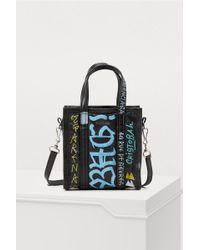 Balenciaga - Xxs Graffiti Bazar Tote Bag - Lyst