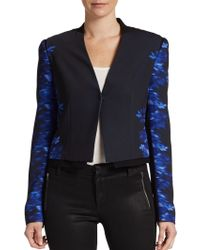 Elie Tahari Sisi Printed Jacket - Lyst