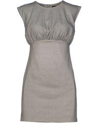 Chloë Sevigny x Opening Ceremony Short Dress gray - Lyst