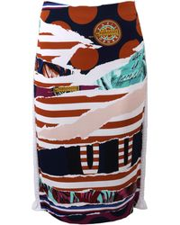 Kenzo Printed Pencil Skirt - Lyst