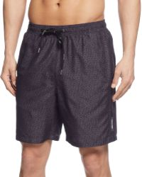 Calvin Klein Monogram Swim Trunks - Lyst