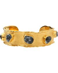 Victor Velyan - Green Sapphire Cuff Bracelet - Lyst
