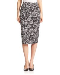 Michael Kors Abstract-Dot Pencil Skirt floral - Lyst