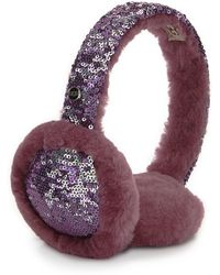 UGG - Two-tone Sequin Shearling Fur Headphone Wired Earmuffs - Lyst