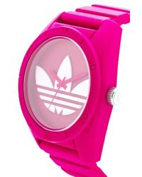 adidas - Originals Large Santiago Watch in Pink - Lyst