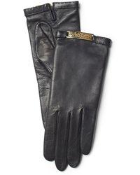 Ralph Lauren Plaque Nappa Gloves - Lyst
