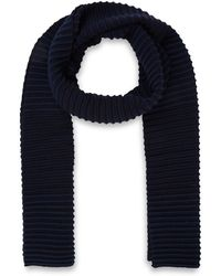 Folk - Navy Stripe Pipe Knit Wool Scarf - Lyst