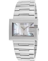 Gucci Womens 100g Silver-tone Steel White Mop Dial - Lyst