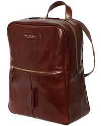 The Bridge - Brushed Leather Backpack - Lyst
