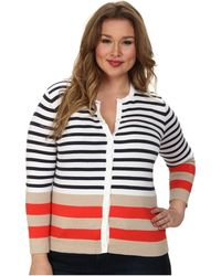Pendleton Plus Size Placed Stripe Cardigan - Lyst