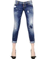 DSquared² Pat Destroyed Denim Jeans - Lyst