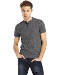 Kenneth Cole Yarn Dye Stripe Henley T-Shirt - Lyst