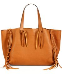 Valentino Fringed Tote - Lyst