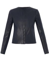 Vince Perforated Leather Jacket - Lyst