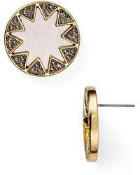 House Of Harlow Earth Metal Sunburst Stud Earrings - Lyst