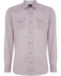 Diesel Long Sleeve Floral Shirt - Lyst