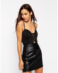 Oh My Love - Sweetheart Body With Lattice Cut Out Front - Lyst